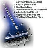 Heavy Duty Commercial Push Broom