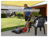 HAAGA 355 SWEEPER ISWEEP IS GREAT FOR RESIDENTIAL CLEANING OF PATIOS, DRIVEWAYS, GARAGES AND WALKWAY