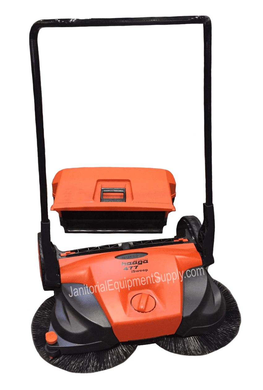 HAAGA 477 SWEEPER WITH DEBRIS CONTAINER REMOVED