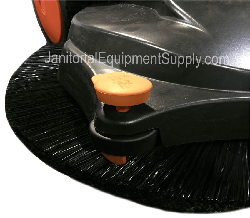 HAAGA 355 SWEEPER ISWEEP RIGHT CORNER ROLLER ALLOWS FOR CLEANING RIGHT UP TO A CURB OR WALL