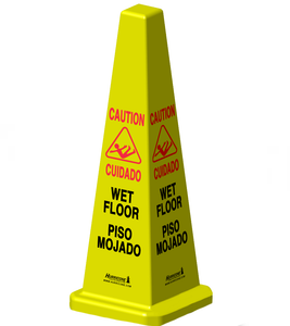 HURRICONE® 36 inch Four Sided Wet Floor Safety Cone