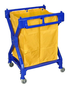 Laundry Cart with Wheels - Folds for Easy Storage