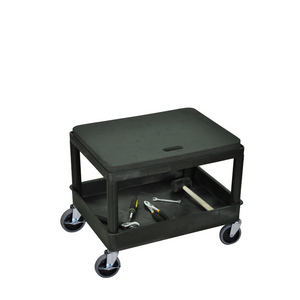 LUXOR MS21-B Automotive Cart-with Removable Seat Cushion