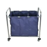 LUXOR HL15 Laundry Cart on Wheels with 3 Sections