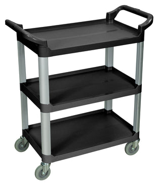 LUXOR® 3 Shelf Food Service Cart | Black Serving Cart