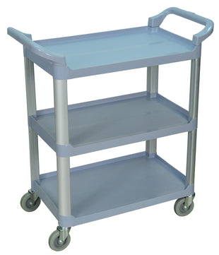 LUXOR® 3 Shelf Food Serving Cart | Gray Service Cart