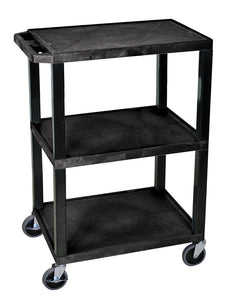 Plastic Utility Cart | 3 Shelve Industrial Storage Cart 34