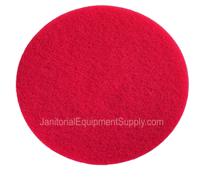 Motor Scrubber 8 inch Red Cleaning Pad