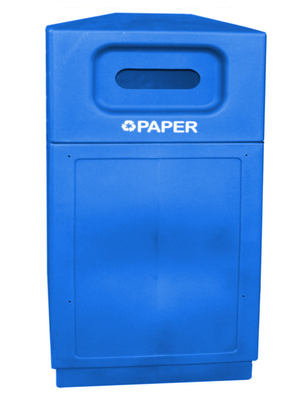 FORTE® 8001947 | Blue 39 Gallon Paper Recycle Bin