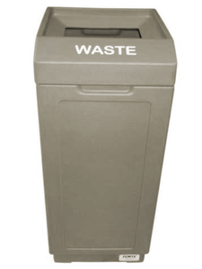 FORTE® 8001462 | Taupe 39 Gallon Open Top Trash Can