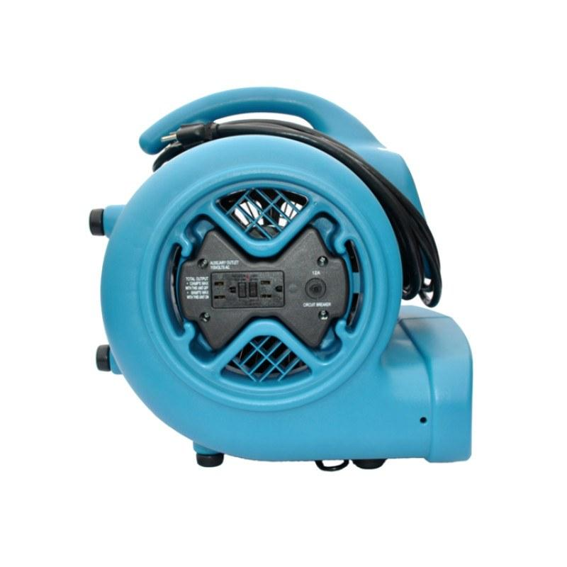 XPOWER® X-600A | Air Mover 1/3 HP Floor Dryer with Power Outlet