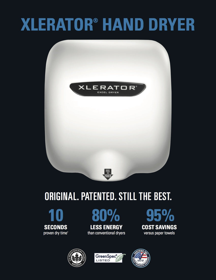 XLERATOR® XL-W Automatic Excel Hand Dryer - White Epoxy