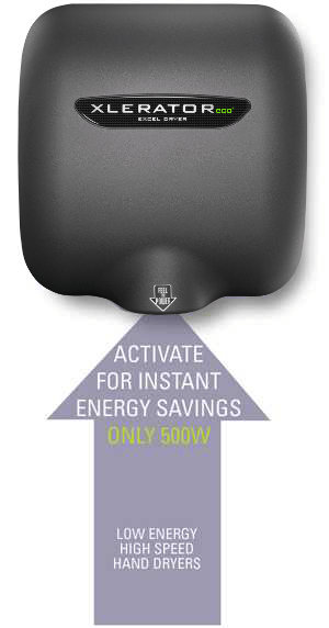 XLERATOR® ECO Energy Saving - Only 500 Watts