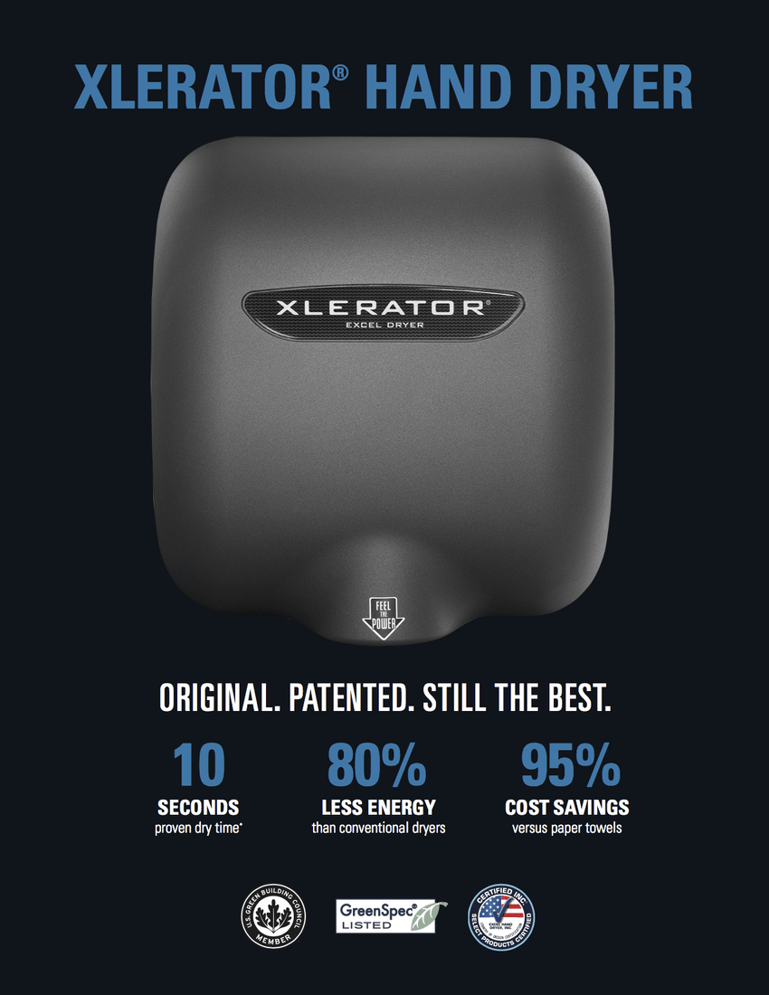 XLERATOR® XL-GR Graphite Textured Automatic Hand Dryer