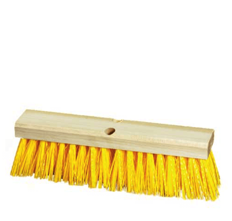 18 inch Stiff Yellow Street Sweeper Push Broom