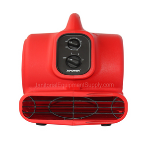 XPOWER® P-200AT | Mini Air Mover 1/8 HP 3 Speeds with 3HR Timer