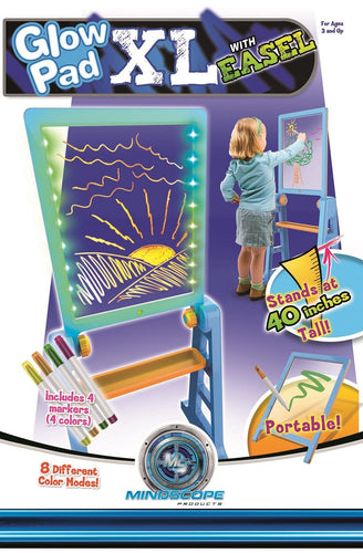 Glow Pad XL with Easel - Purple / Yellow