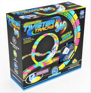 Twister Tracks 360(13feet) Neon Glow Track + 1 Police Car