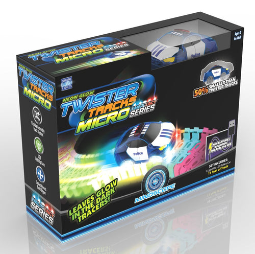 Twister Tracks Micro - Emergency Series, (11Feet)Neon Glow Track - Carro Recargable