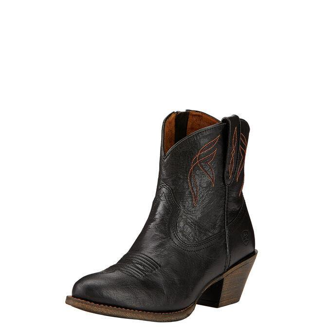 Ariat Women's Darlin Western Boot Old Black - CWesternwear