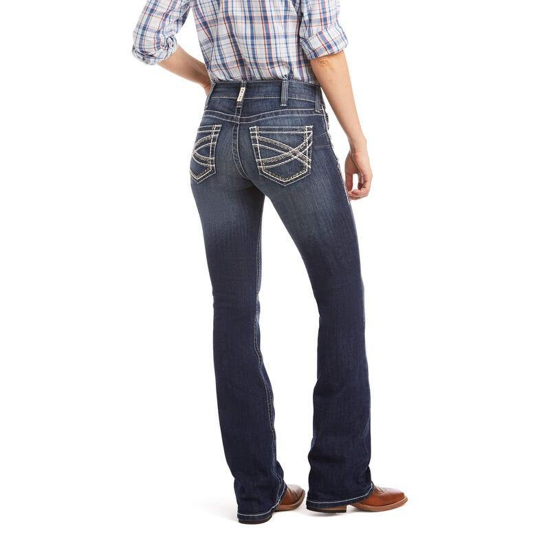 Womens Ariat R.E.A.L. Mid Rise Stretch Entwined Boot Cut Jean - CWesternwear