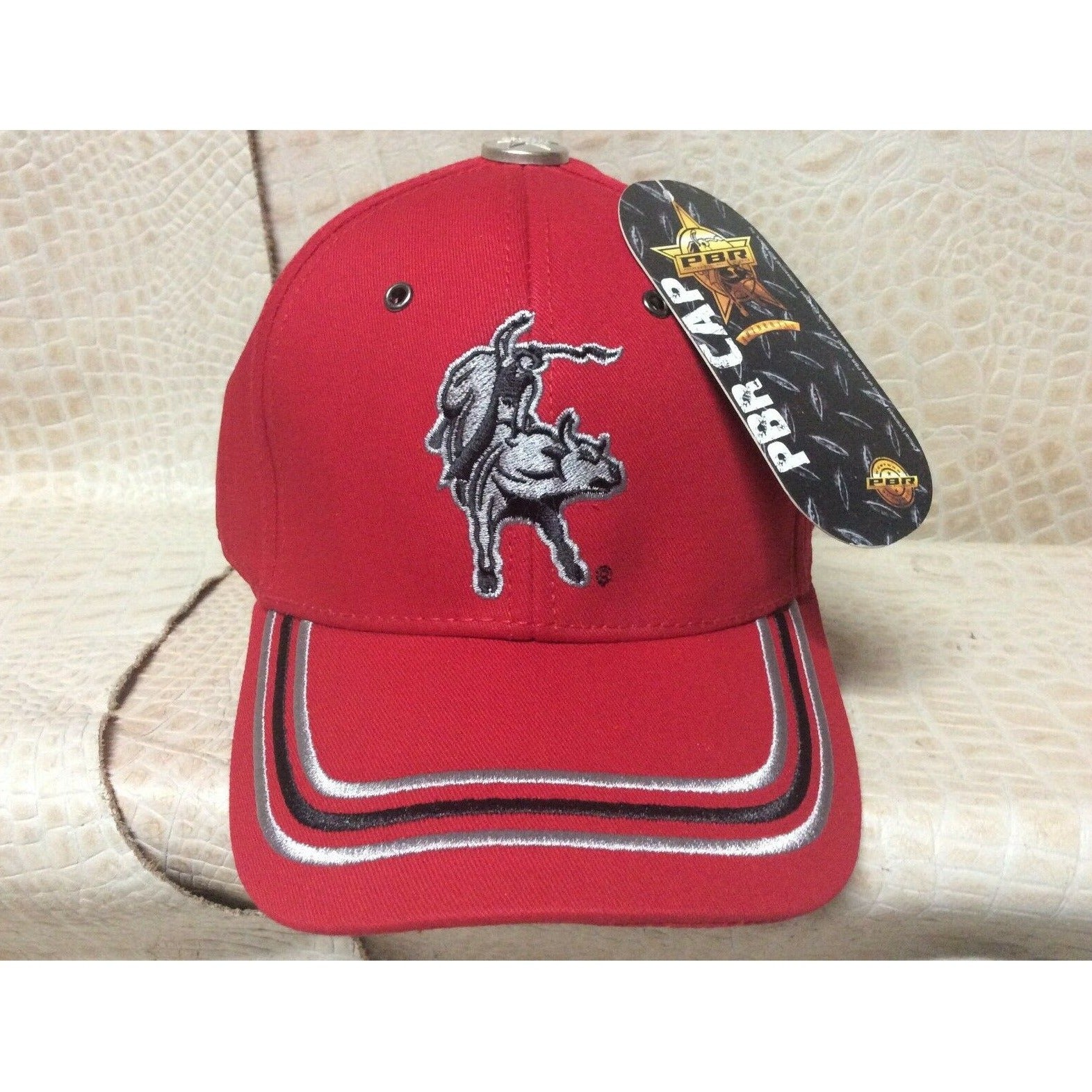 New Mens PBR Ball Cap Hat Rodeo Western Cowboy Red - CWesternwear
