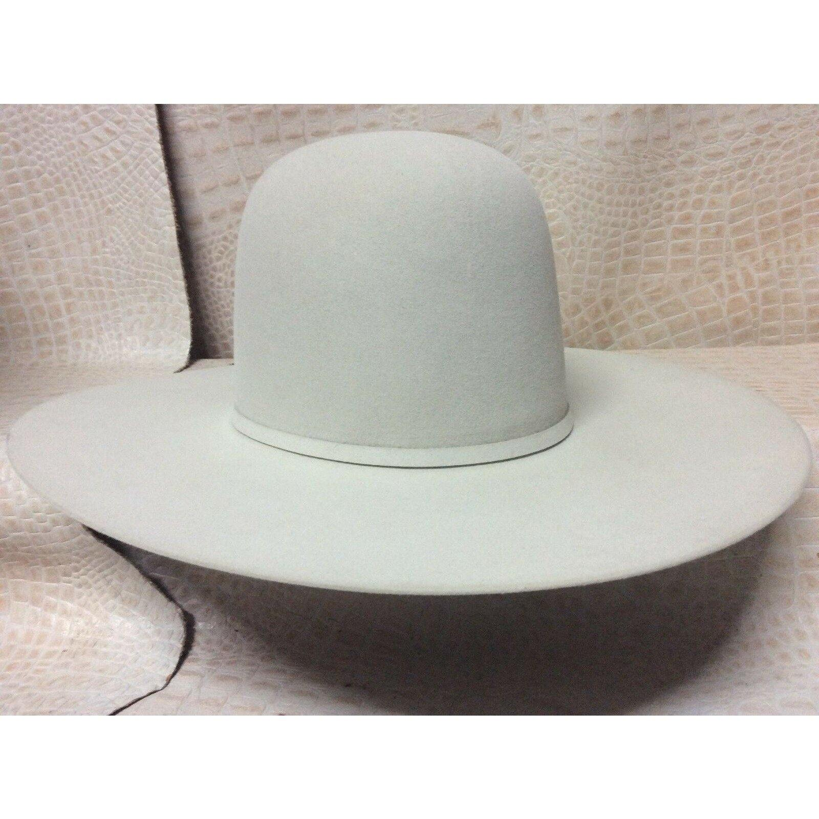 New Resistol 6X Midnight Silver Belly Beaver Fur Felt Open Crown Cowboy Hat Western Rodeo - CWesternwear
