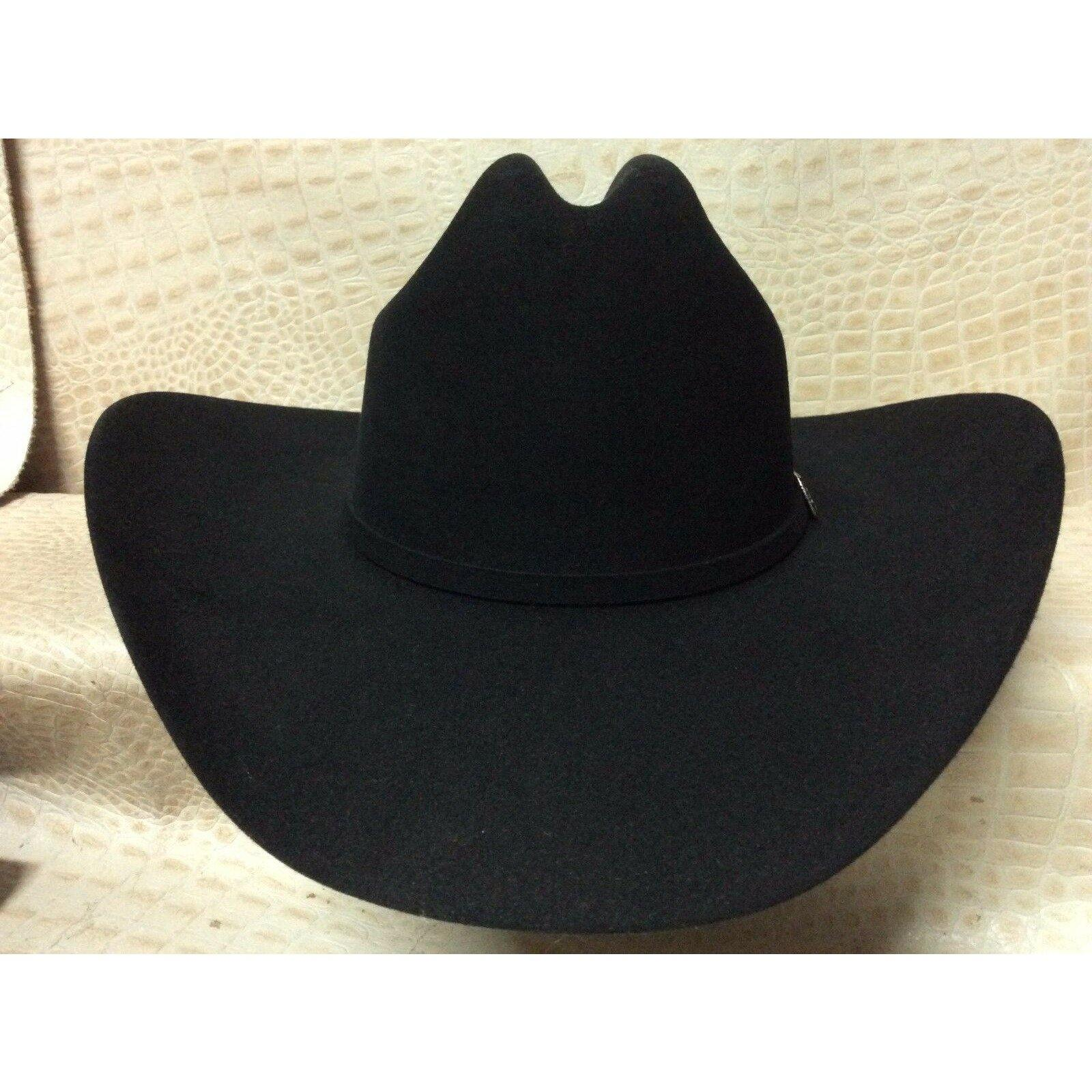 New Stetson Skyline Black 6X Beaver Fur Felt Western Rodeo Riding Cowboy Hat - CWesternwear