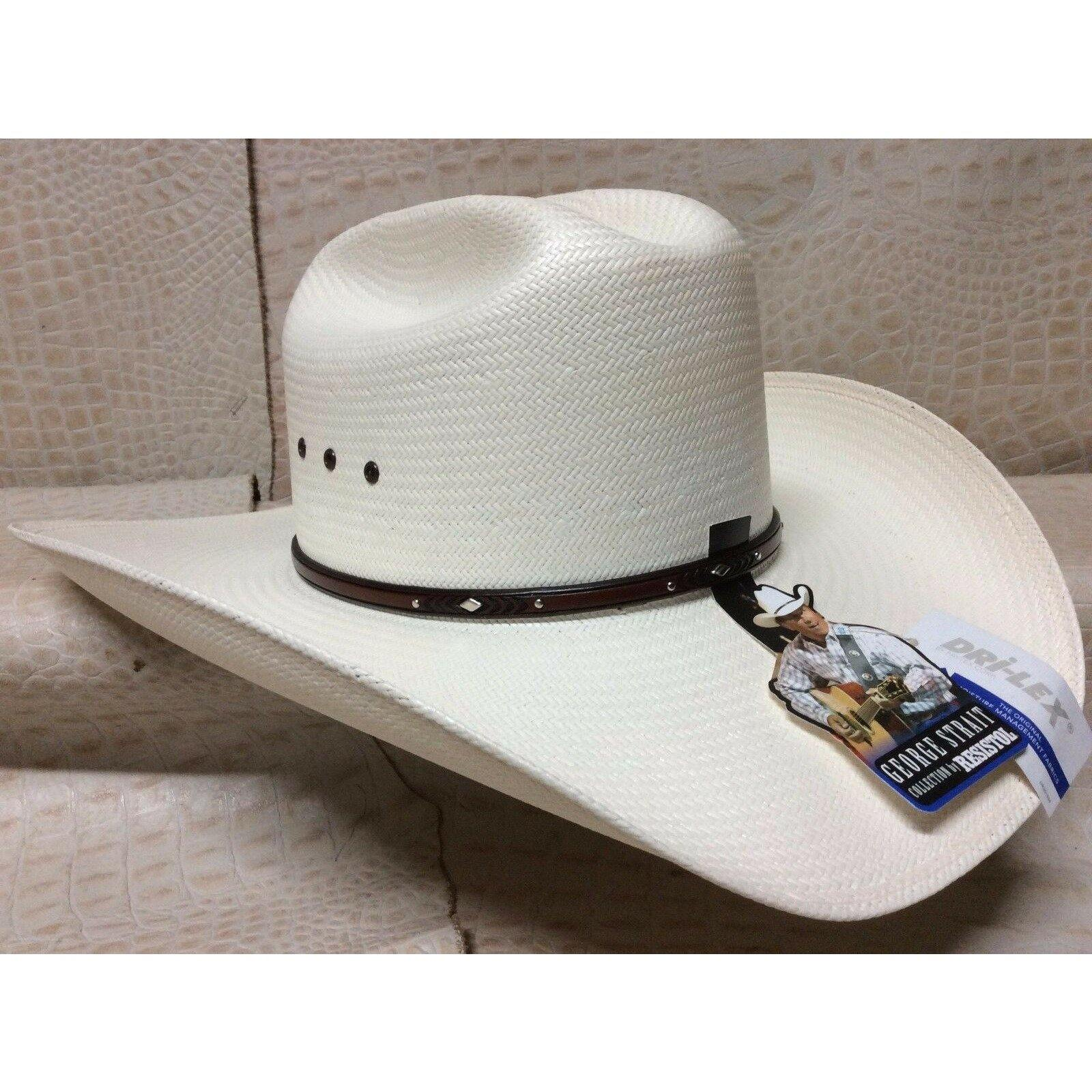 Resistol 8X George Strait Collection Palo Duro Rodeo Western Cowboy Straw Hat - CWesternwear