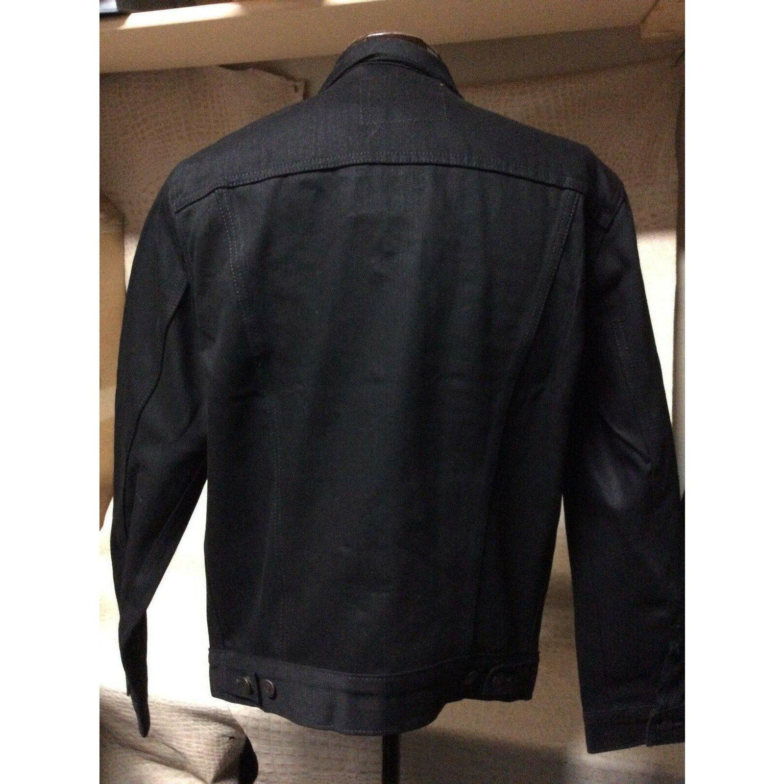 Men's Original Levis Black Stretch Denim Western Cowboy Trucker Jacket - CWesternwear