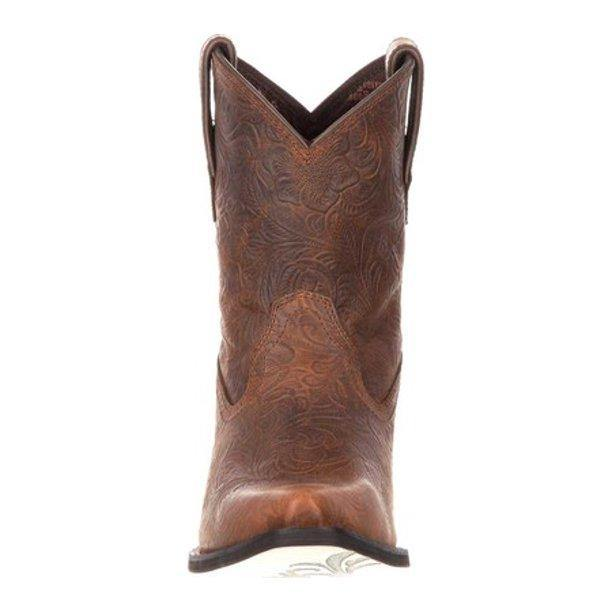 Durango Western Boots Womens Crush Floral Embossed Brown - CWesternwear