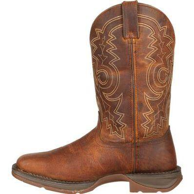Mens Durango Pull-On Western Brown Tan Leather Cowboy Boot DB4443