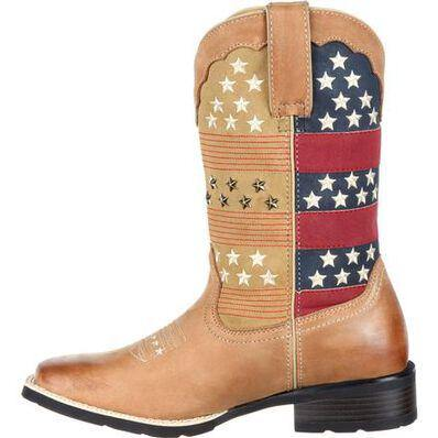WOMEN'S DURANGO PULL-ON PATRIOTIC WESTERN BOOT - CWesternwear