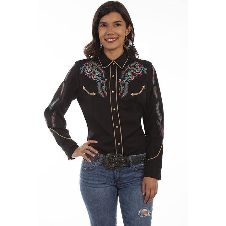 Womens Scully Embroidered western shirt - CWesternwear