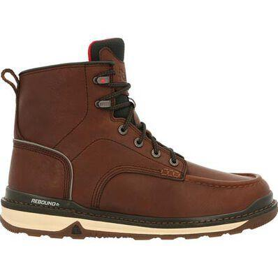 MEN'S ROCKY RAMS HORN UNLINED BROWN WORK CASUAL SPORT WEDGE BOOT - CWesternwear