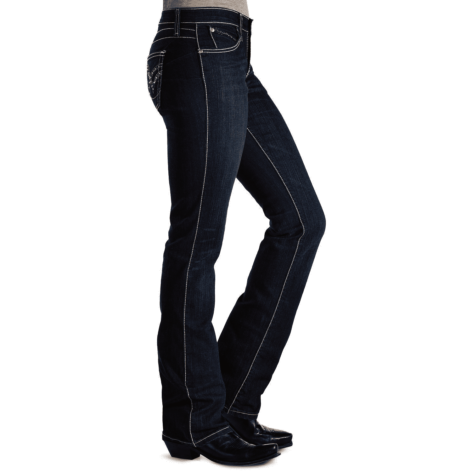Wrangler women's Q Dark Wash Ultimate Riding With Booty Up Technology Jeans - CWesternwear