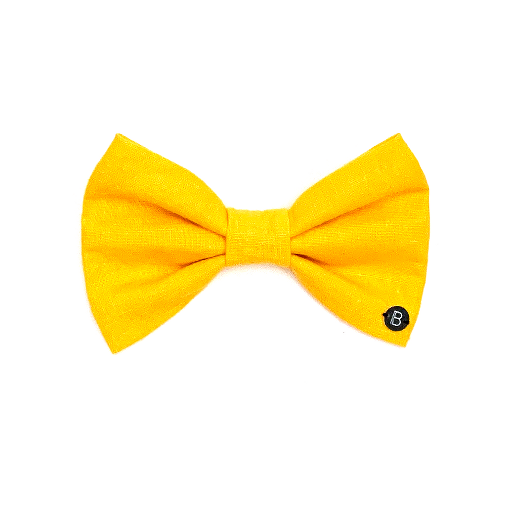 Yellow Linen - Bow - BillyBCollective