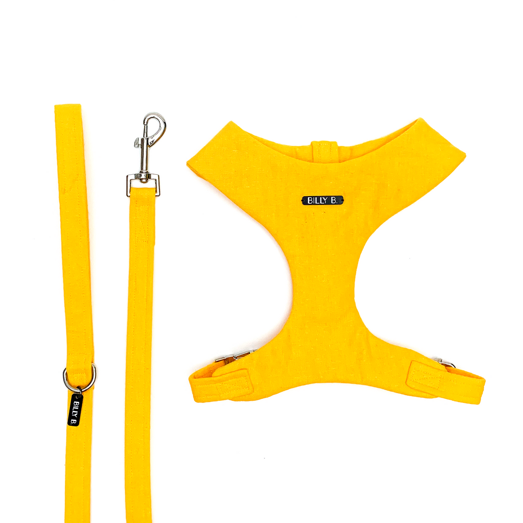 Yellow Linen - Set (Harness & Lead) - BillyBCollective