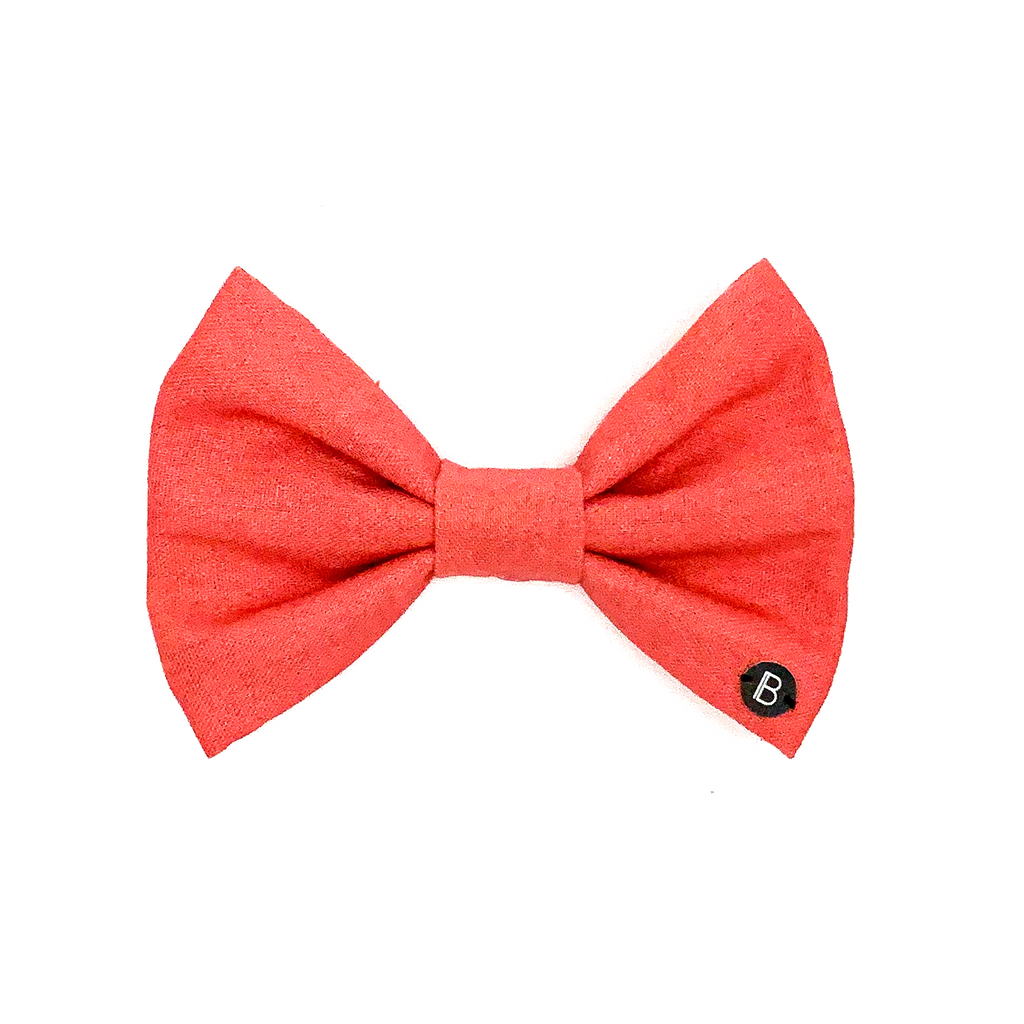 Watermelon Linen - Bow - BillyBCollective