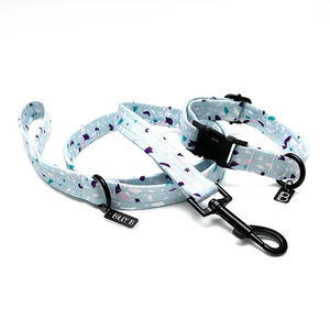 Blue Terrazzo - Set (Collar & Lead) - BillyBCollective