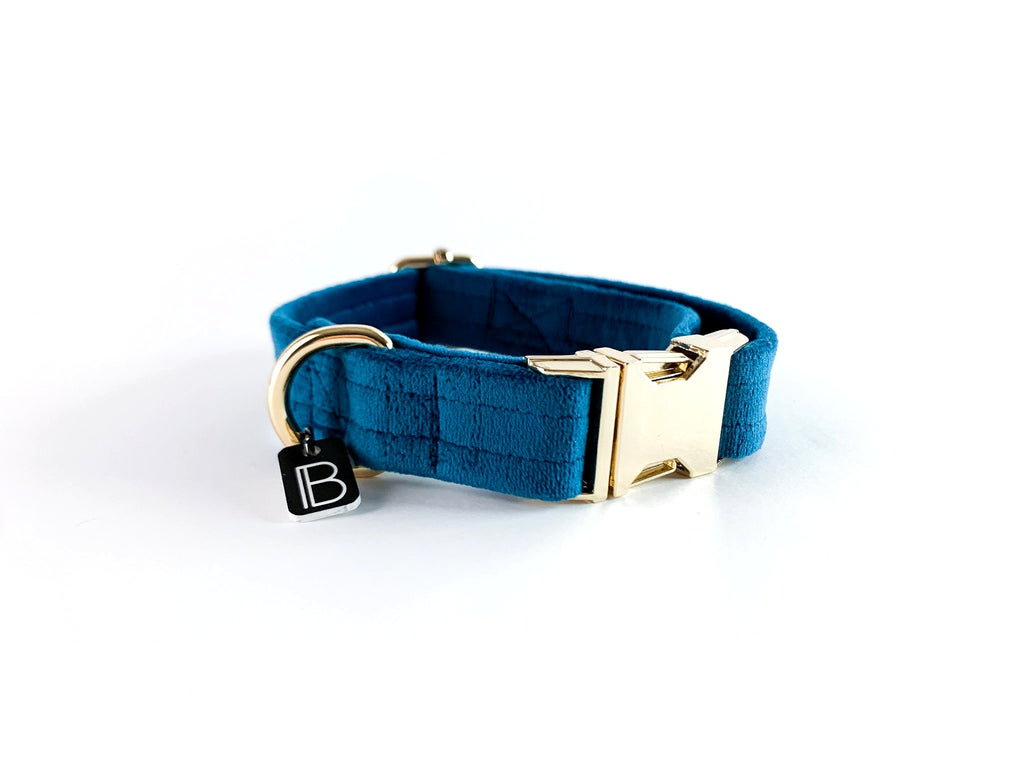 Teal Velvet - Collar - BillyBCollective