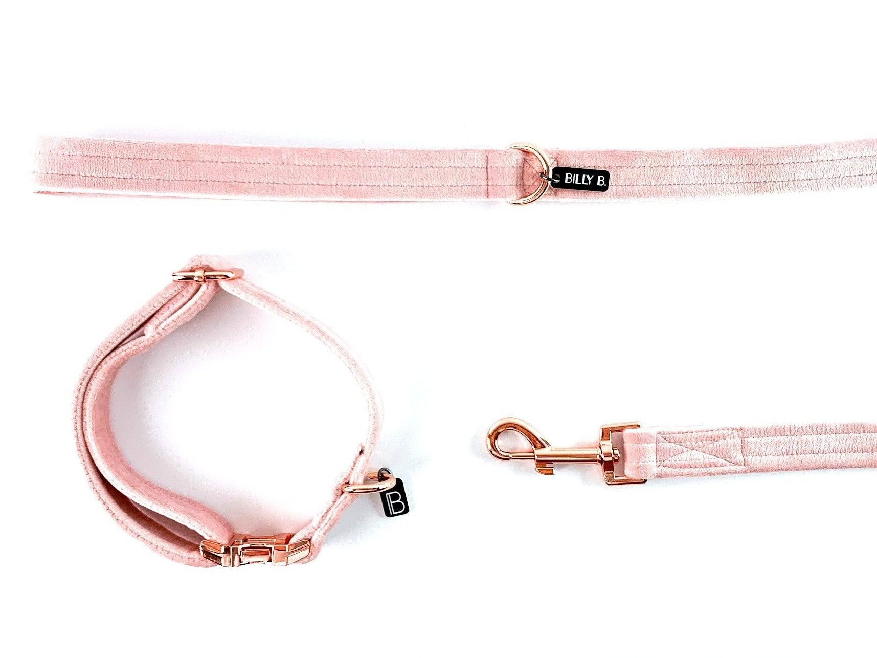 Blush Velvet - Set (Collar & Lead) - BillyBCollective