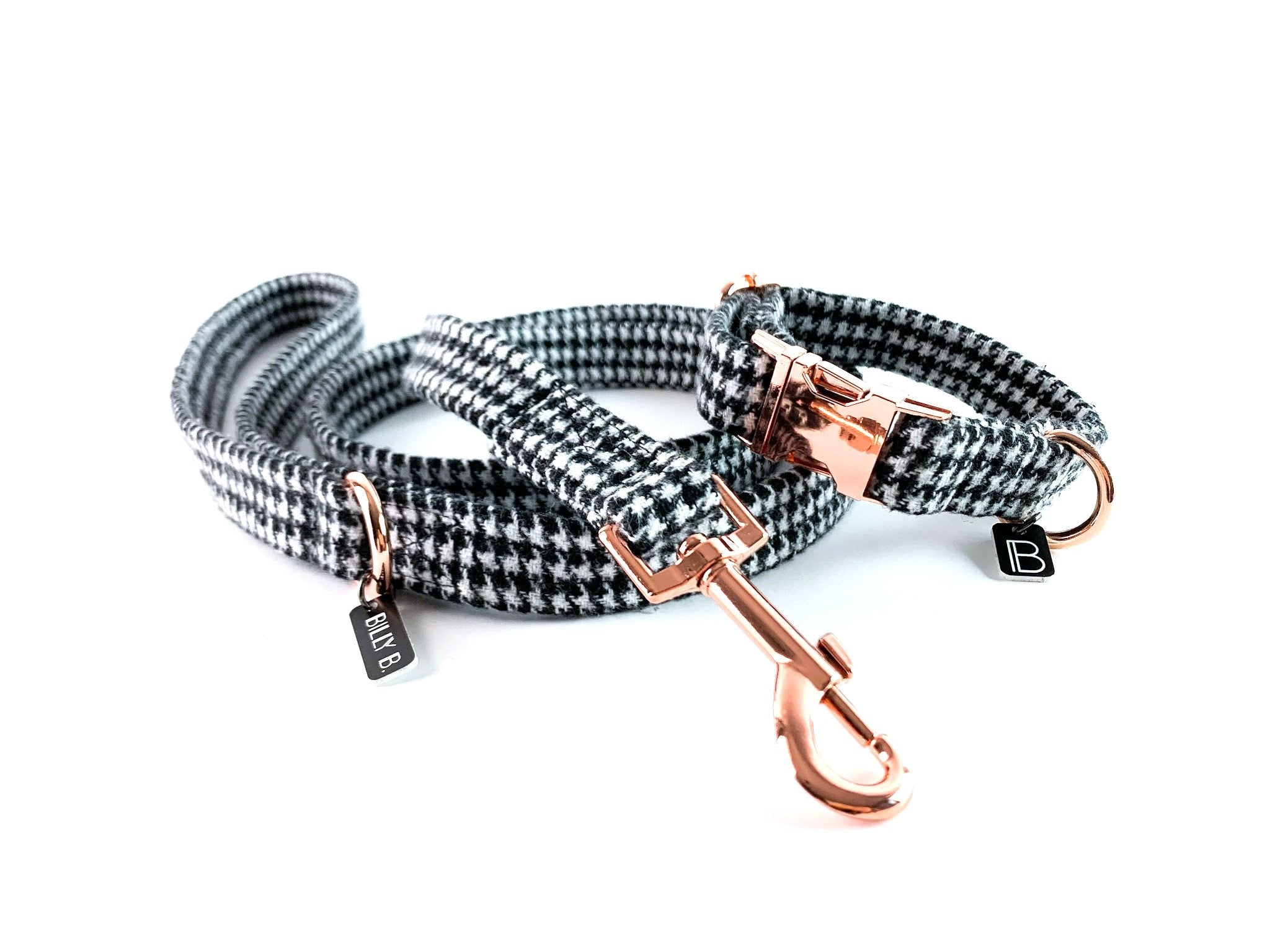 Houndstooth - Set (Collar & Lead) - BillyBCollective