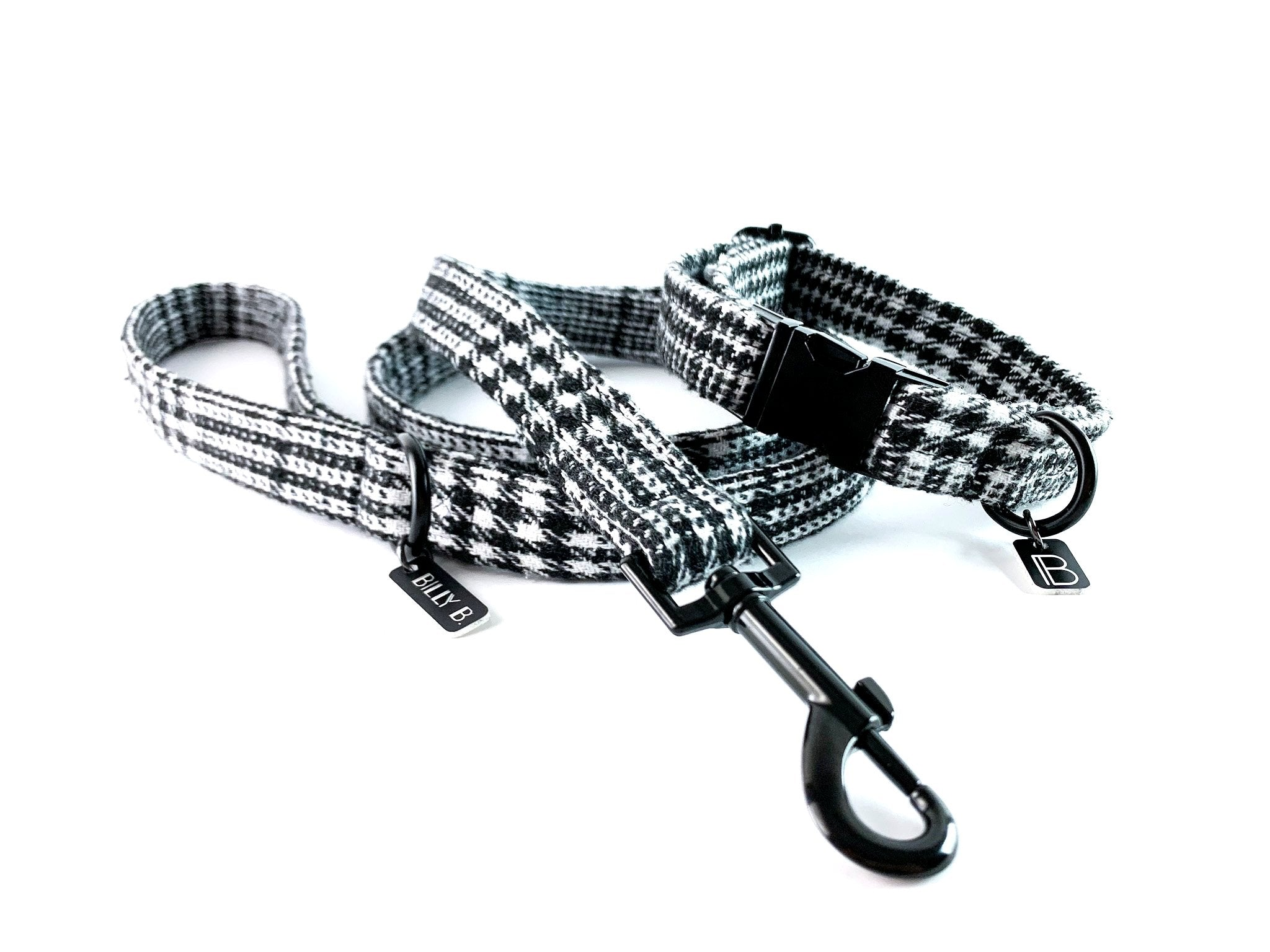 Black Tartan - Set (Collar & Lead) - BillyBCollective