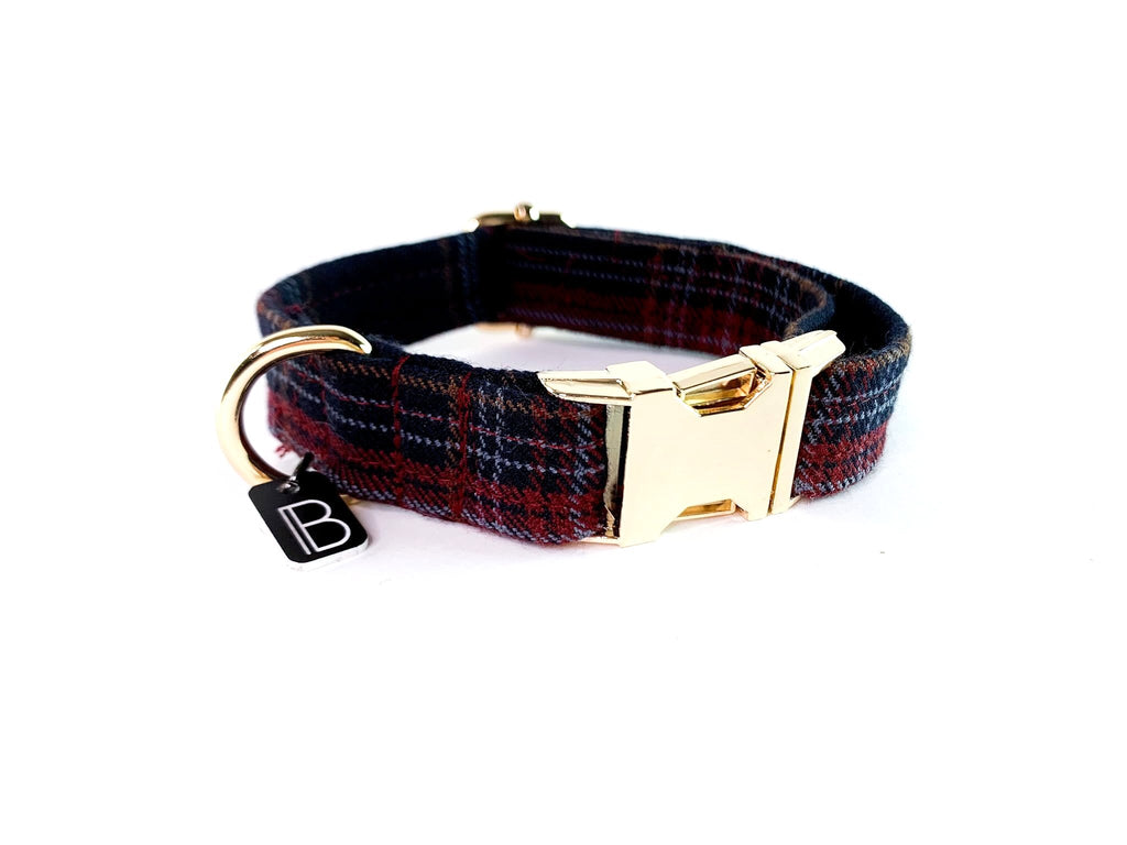 Navy Tartan - Collar - BillyBCollective