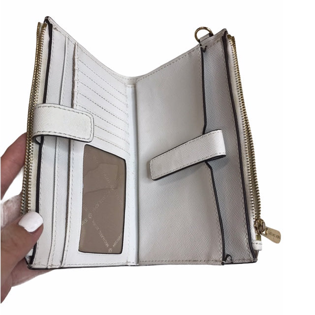 Photo #1 - BRAND: MICHAEL BY MICHAEL KORS <BR>STYLE: WALLET <BR>COLOR: OFF WHITE <BR>SIZE: MEDIUM <BR>OTHER INFO: AS IS; STRAP MSNG <BR>SKU: 299-29929-58209