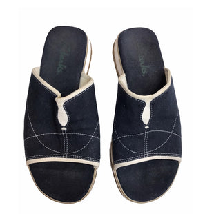 Primary Photo - BRAND: CLARKS STYLE: SANDALS FLAT COLOR: NAVY SIZE: 7 SKU: 299-29987-296