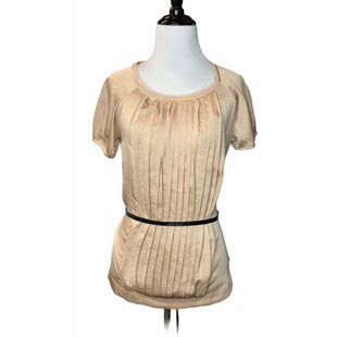 Primary Photo - BRAND: SIMPLY VERA STYLE: TOP SHORT SLEEVE COLOR: TAN SIZE: XS OTHER INFO: NEW! SKU: 299-29929-47395•100% POLYESTER