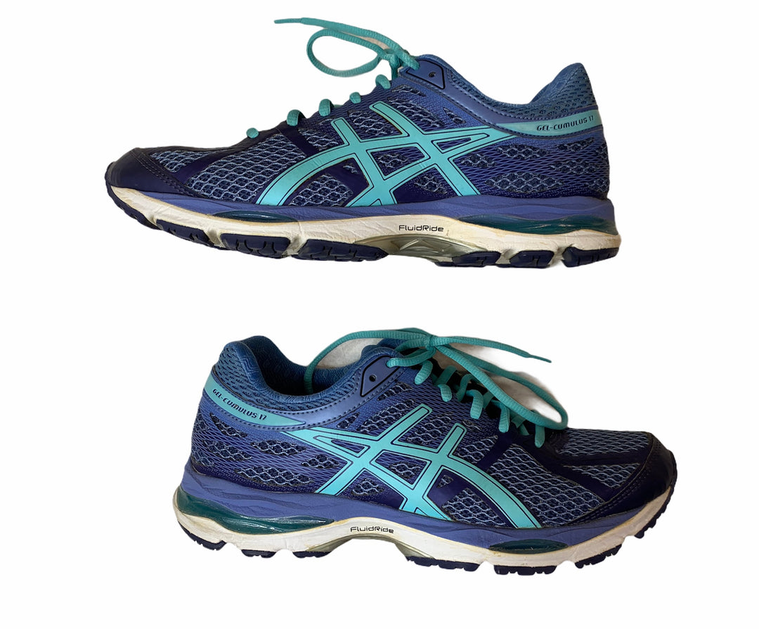 Photo #1 - BRAND: ASICS <BR>STYLE: SHOES ATHLETIC <BR>COLOR: BLUE <BR>SIZE: 8.5 <BR>SKU: 299-29929-54114