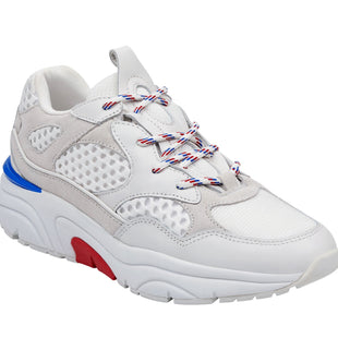 Primary Photo - BRAND: MARC FISHER STYLE: SHOES ATHLETIC COLOR: WHITE SIZE: 9.5 SKU: 299-29950-6624•THE NELLA LACE-UP SNEAKER FEATURES A LEATHER UPPER WITH MESH PANELING ON A CHUNKY AND SPORTY PLATFORM BOTTOM.